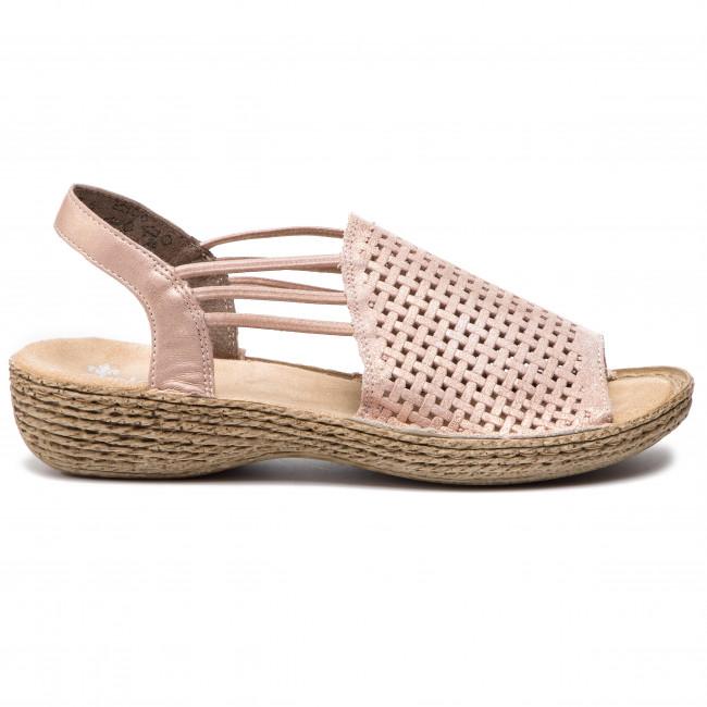 Sandále RIEKER - 65845-31 Rosa - Sandále na každodenné nosenie ... a0efb252382