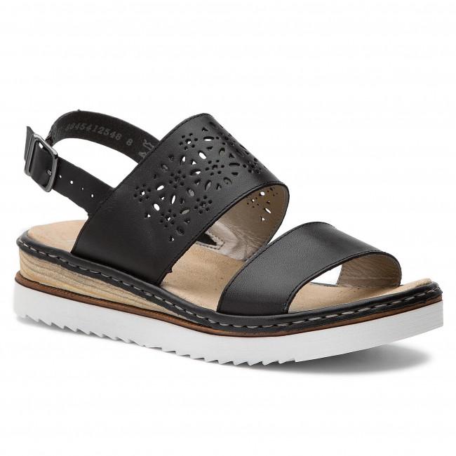 3fcd42870a06 Sandále RIEKER - 67920-00 Schwarz - Na klíne - Šľapky a sandále ...