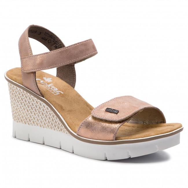 74d134f0a903 Sandále RIEKER - 68554-31 Rosa - Na klíne - Šľapky a sandále ...