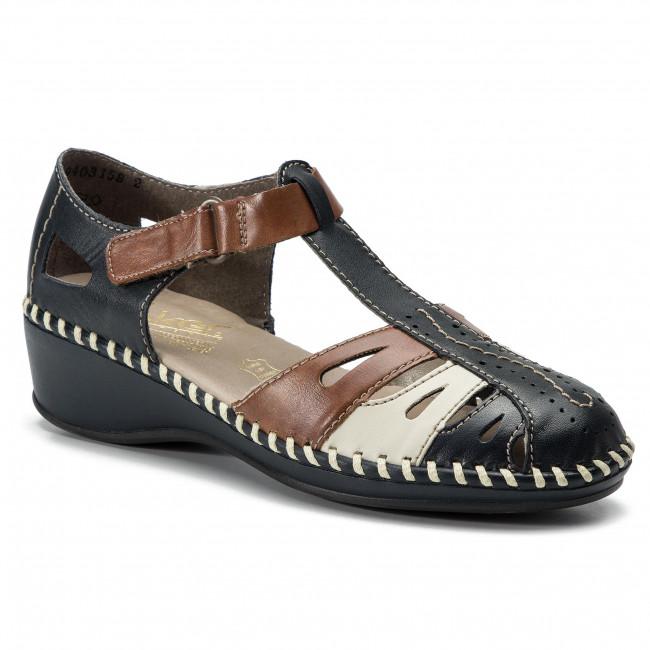 f1ec9bebca7f Sandále RIEKER - N1667-14 Blau Kombi - Na klíne - Šľapky a sandále ...