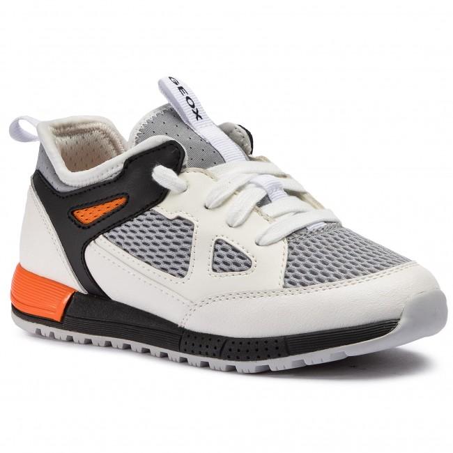 2947af9b2cdb Sneakersy GEOX - J Alben B. D J929ED 014BU C0422 S White Orange ...