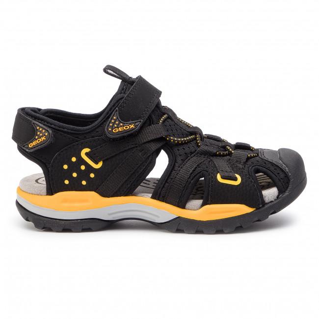 Sandále GEOX - J Borelis B. B J920RB 0CE14 C0054 S Black Yellow ... 80402733f7c