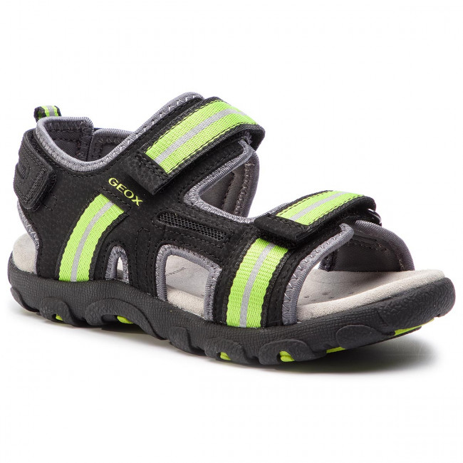 341d44ab4053 Sandále GEOX - J S.Strada A J9224A 0CE14 C9B3S S Black Lime Green ...