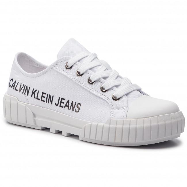 Tramky CALVIN KLEIN JEANS - Biony R8064 Bright White - Plátenky a ... 29df2bc68a