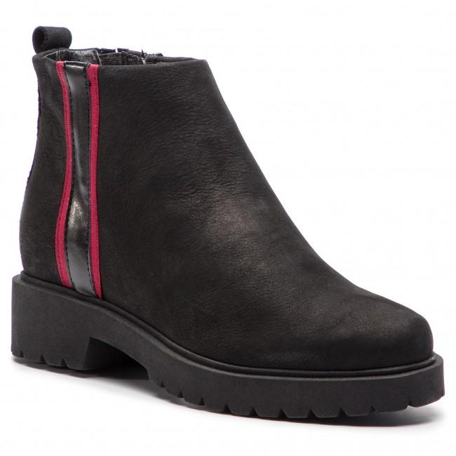 3e39cc991087 Členková obuv TAMARIS - 1-25069-31 Black Bordeaux 086 - Kotníková ...