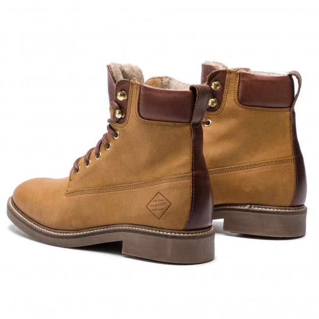 c7276a8ed4 Členková obuv GANT - Ashley 17544830 Cognac G45 - Kotníková obuv ...