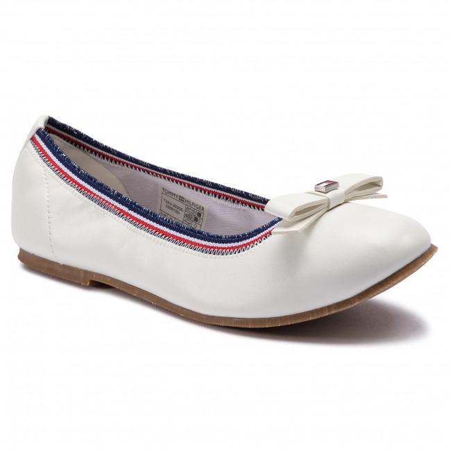 0e66c4cec20 Baleríny TOMMY HILFIGER - Ballerina T3A3-30355-0289 D White 100 ...