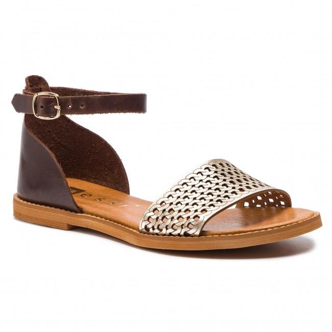 f1926da0cb345 Sandále NESSI - 18381 Brąz/Złoto 11 - Sandále na každodenné nosenie ...