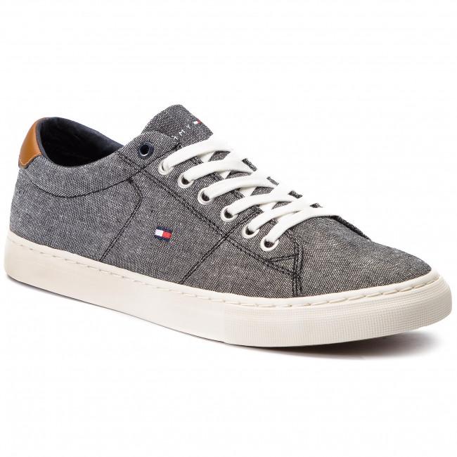 9a2742c1d4 Tenisky TOMMY HILFIGER - Seasonal Textile Sneaker FM0FM02204 Black ...