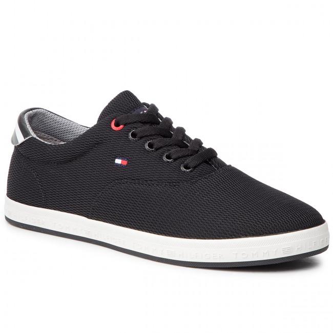 ae11f78b53621 Tenisky TOMMY HILFIGER - Essential Oxford Textile Sneaker FM0FM02052 Black  990