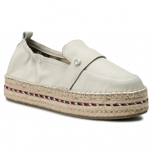e54d1f26d46b Espadrilky TOMMY HILFIGER - Colorful Rope Flat Espadrille FW0FW03794  Whisper White 121