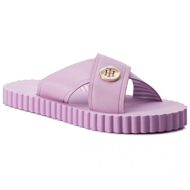 72f62760f5 Šľapky TOMMY HILFIGER - Hardware Detail Beach Sandal FW0FW03883 Pink  Lavender 518