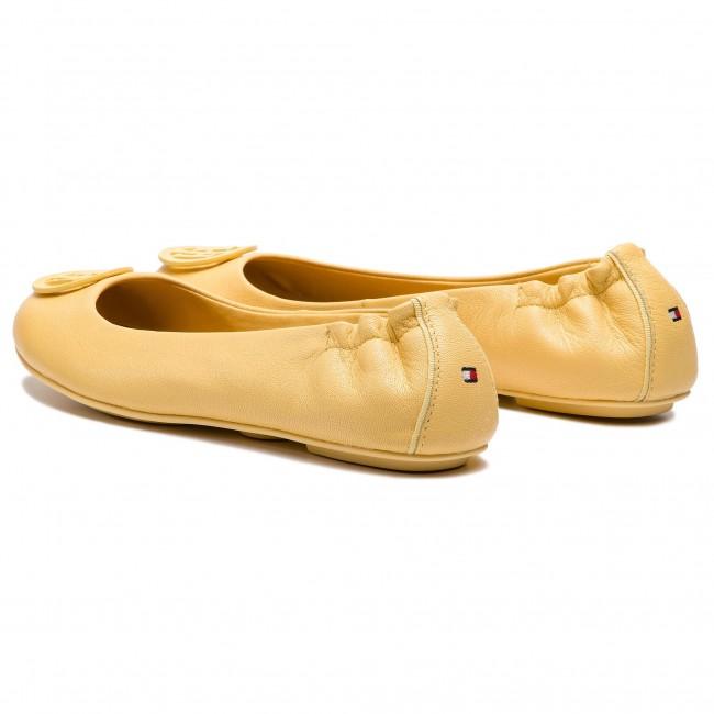 Baleríny TOMMY HILFIGER - Flexible Leather Ballerina FW0FW04073 Golden Haze  731 d70a642796