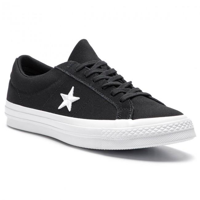 ab3251c828319 Tenisky CONVERSE - One Star Ox 160600C Black/White/White - Plátenky ...