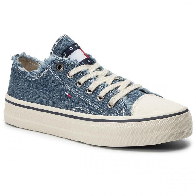 cedeaa5b13 Tenisky TOMMY JEANS - Lowcut Tommy Jeans Sneaker EM0EM00298 Denim ...