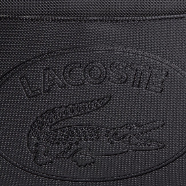 2a39be77b Kabelka LACOSTE - Square Crossover Bag NF2628WM Black/Black A68 ...