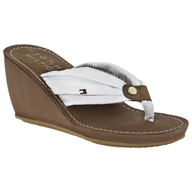 Žabky TOMMY HILFIGER - FW56815530 100 - Žabky - Šľapky a sandále ... 43a12c3db99