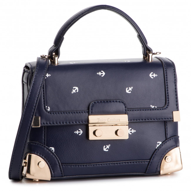 bfc0333a1 Kabelka JUICY COUTURE BLACK LABEL - Jewell Angelfloral Structured Trunk  JBH5163 Tmavo modrá