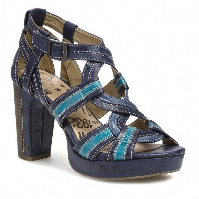 d09e02ee1091 Sandále MUSTANG - 32C035 Dark Blue R.Blue Turquise - Sandále na ...