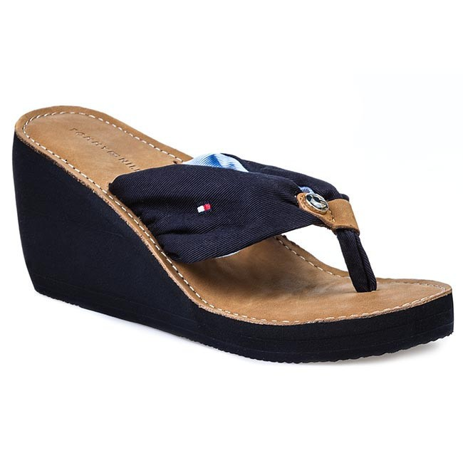 Žabky TOMMY HILFIGER - FW56816810 Modrá - Žabky - Šľapky a sandále ... 6e2297a1f85