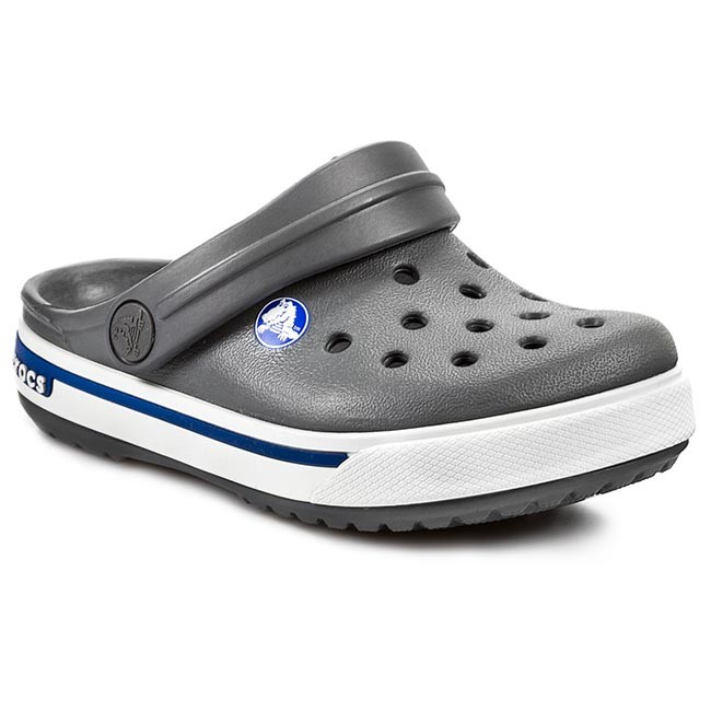 Šľapky CROCS - Crocband II.5 Clog Kids 12837 Charcoal  Sea Blue ... 20bb608cfc