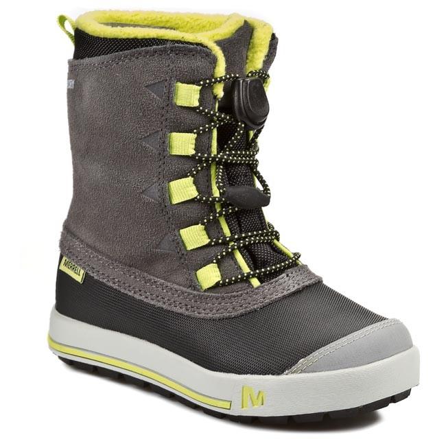 Snehule MERRELL - Snow Bank Wtpf J95971 Grey Lime - Outdoorová obuv ... 72b5f2e865f