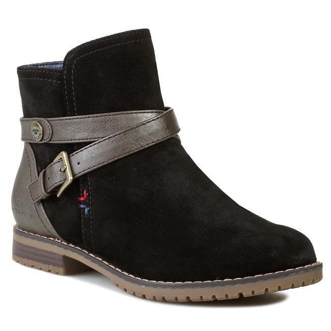e332e2f8bfb1 Členková obuv TOM TAILOR - 649000200 Čierna - Kotníková obuv - Čižmy ...