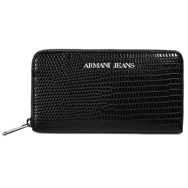 No ARMANI JEANS Čierna - Dámska peňaženka - Peňaženka - Kožená ... c0f14b90523
