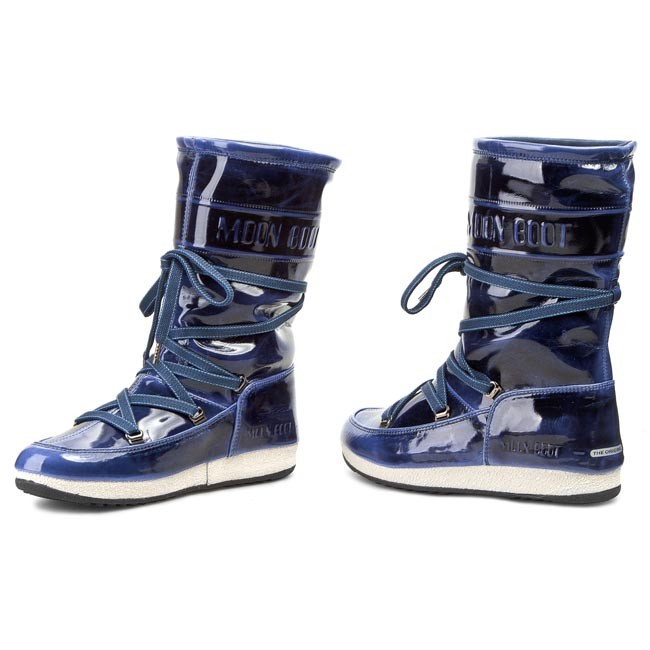 Snehule MOON BOOT - 5TH Avenue 24100200007 Blue White - Snehule ... aa1751d0eab