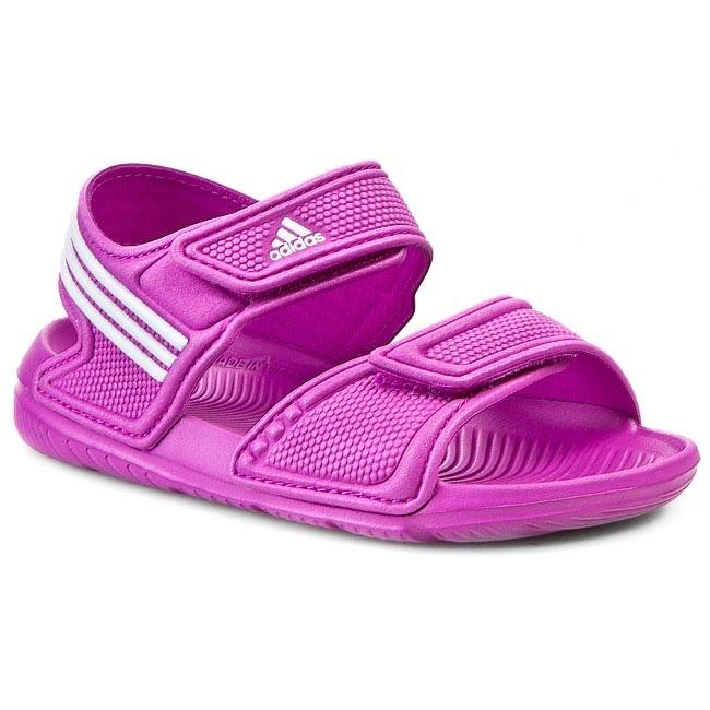 2a671af86467 Sandále adidas - Akwah 9K B39856 Flapnk Ftwwht Flapnk - Sandále ...