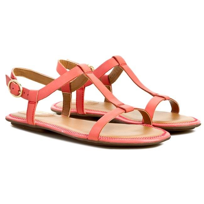 6ee8ffdd3082 Sandále CLARKS - Risi Hop 261088614 Coral Leather - Sandále na každodenné  nosenie - Sandále - Šľapky a sandále - Dámske - www.eobuv.sk