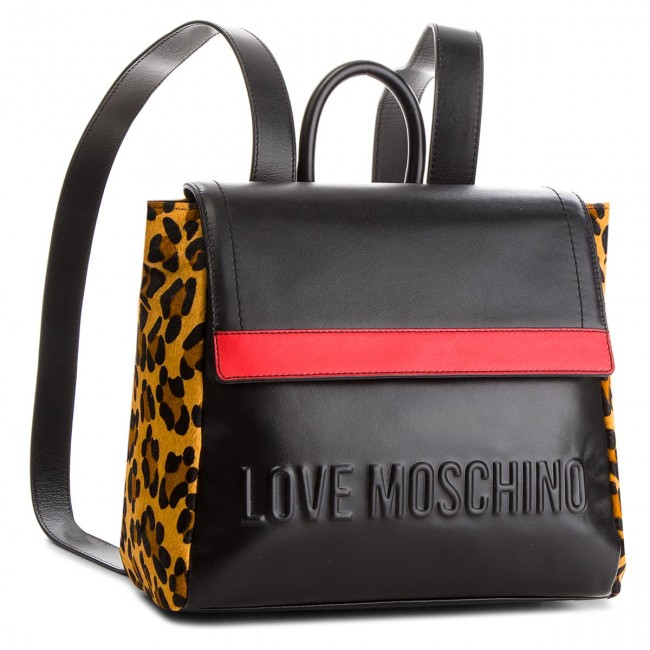 527540de03d Ruksak LOVE MOSCHINO - JC4139PP16LX100A Nero Rosso Calv. Leop ...