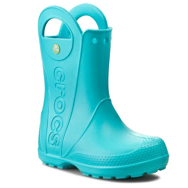 Gumáky CROCS - Handle It Rain Boot Kids 12803 Pool - Gumáky - Čižmy ... 161916ab7ec