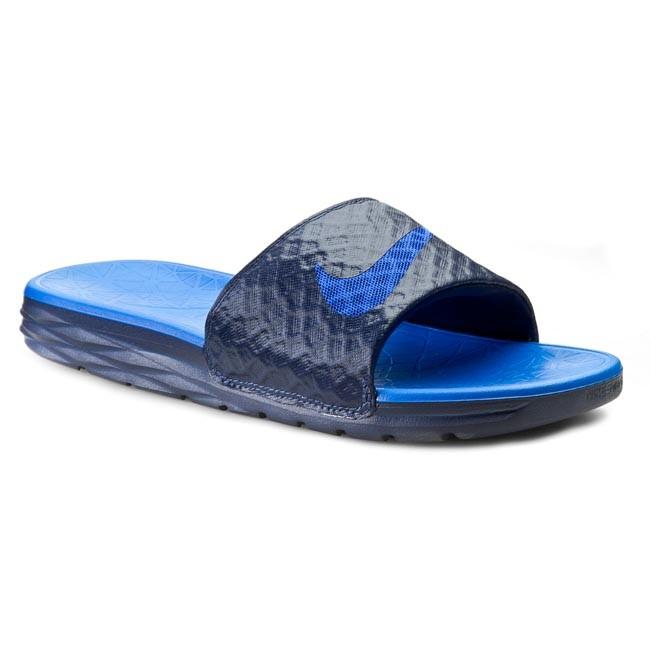 9b77b7ec40a Šľapky NIKE - Benassi Solarsoft Slide 2 705474 440 Midnight Navy Lyon Blue