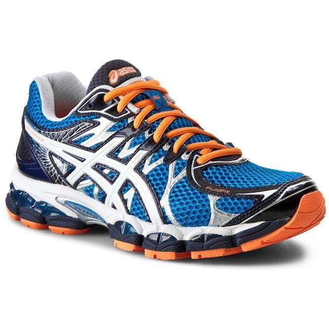 Topánky ASICS - Gel-Nimbus 16 T435N Blue White Flash Orange 4201 ... 85984e6e45b