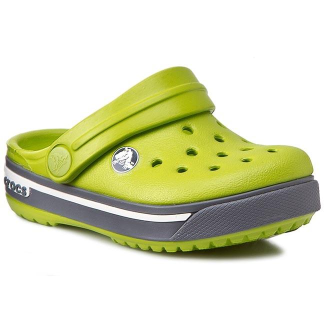 Šľapky CROCS - Crocband II.5 Clog Kids 12837 Volt Green Charcoal ... 93e95fef193