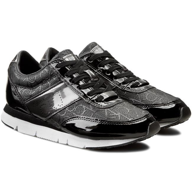 1cde65222 Sneakersy CALVIN KLEIN JEANS - Tosca Silicon Ck Logo/Metallic RE9396  Black/Pewter - Sneakersy - Poltopánky - Dámske - eobuv.sk