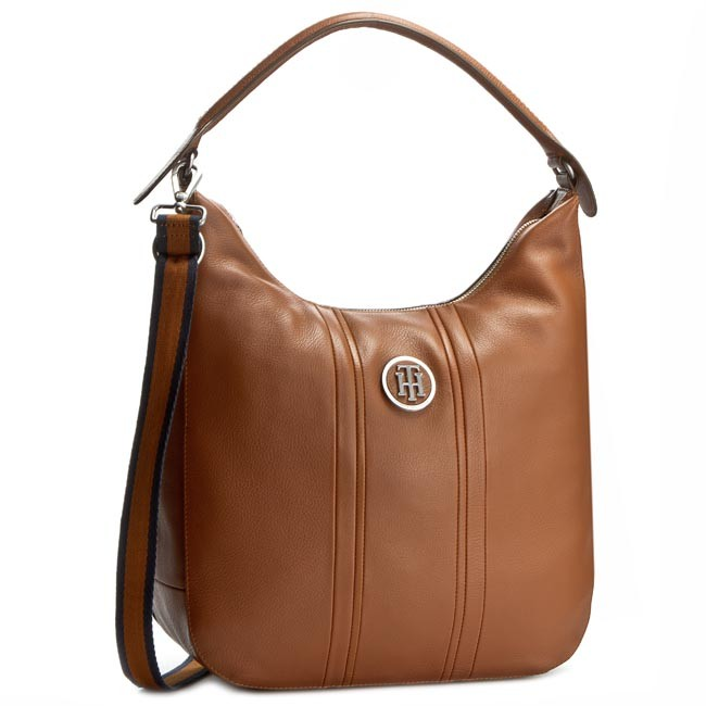 Kabelka TOMMY HILFIGER - Daybag Leather Hobo AW0AW01262 Cognac 029 ... fd7147aaa86