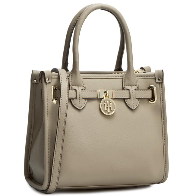 Kabelka TOMMY HILFIGER - American Icon Mini Tote Saffiano AW0AW01880 Dune  011 d1a6a1de21a