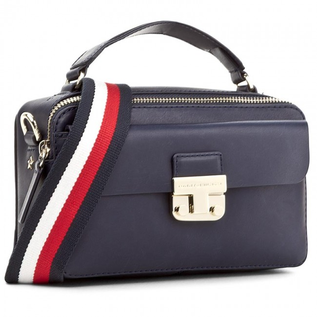 Kabelka TOMMY HILFIGER - Fashion Hardware Leather Mini Crossover AW0AW04291  413 ab3a083121d