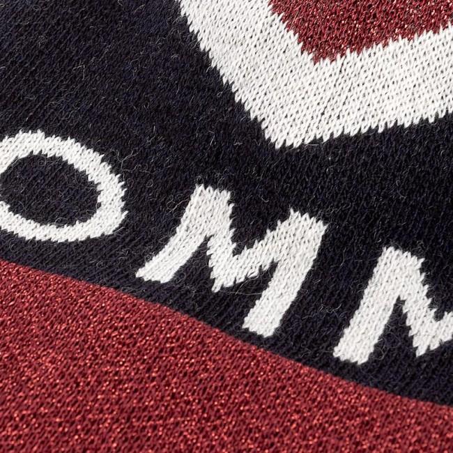 1819bb327 Čiapka dámska TOMMY HILFIGER - DENIM Tommy Chevron Pom Pom Beanie  AW0AW04275 413 - Dámske - Čiapky - Textil - Doplnky - eobuv.sk