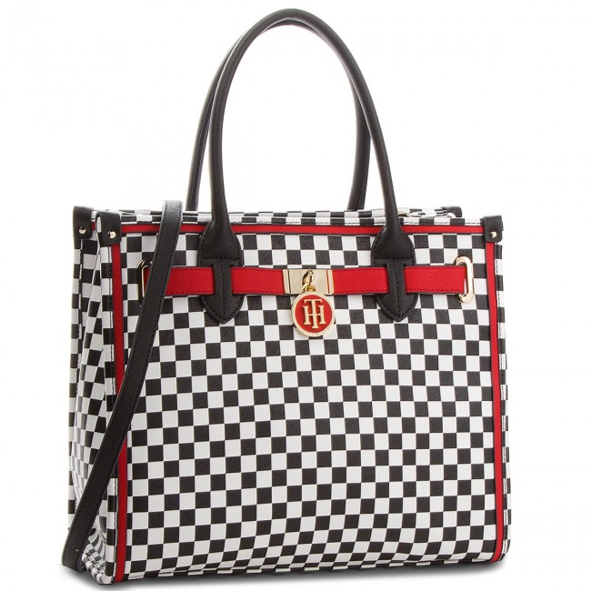Kabelka TOMMY HILFIGER - American Icon Tote Print AW0AW04992 901 ... 27475a6fc3d