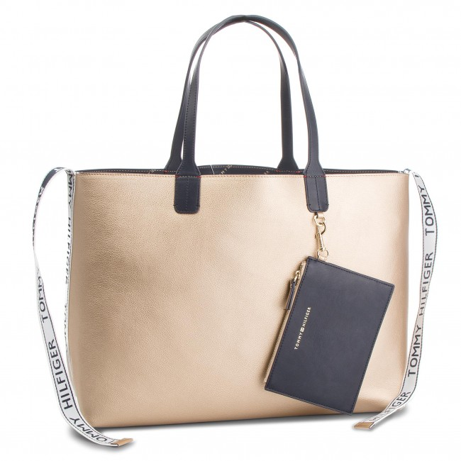Kabelka TOMMY HILFIGER - Iconic Tommy Tote AW0AW05640 909 - Klasické ... bfe1232b739