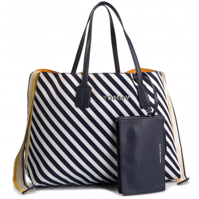 491ccdccd1 Kabelka TOMMY HILFIGER - Cool Tommy Tote AW0AW06269 902 - Klasické ...