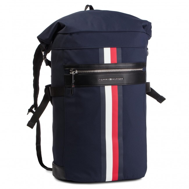 Ruksak TOMMY HILFIGER - Elevated Roll Backpack Stripe AM0AM04423 413 ... 6ab00117284