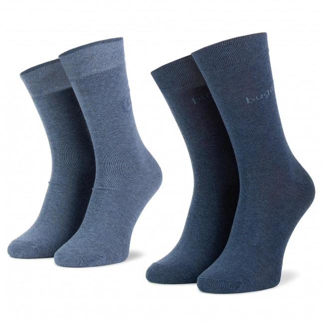 Súprava 2 párov vysokých ponožiek pánskych BUGATTI - 6762 434