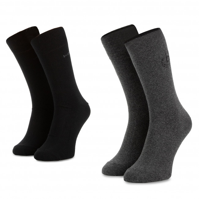 Súprava 2 párov vysokých ponožiek pánskych BUGATTI - 6762C Anthracite 620