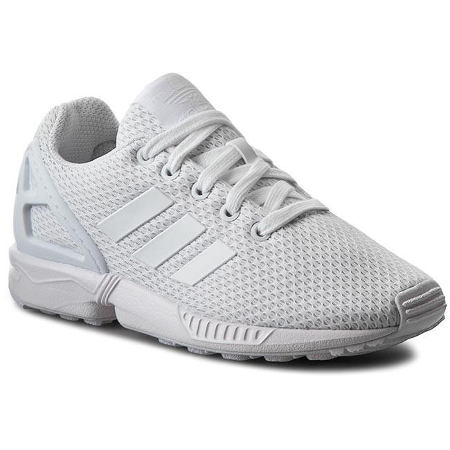 Topánky adidas - Zx Flux K S81421 Ftwwht/Ftwwht/Ftwwht
