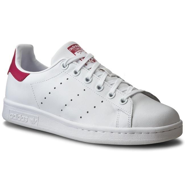 Topánky adidas - Stan Smith J B32703 Ftwwht/Ftwwht/Bopink
