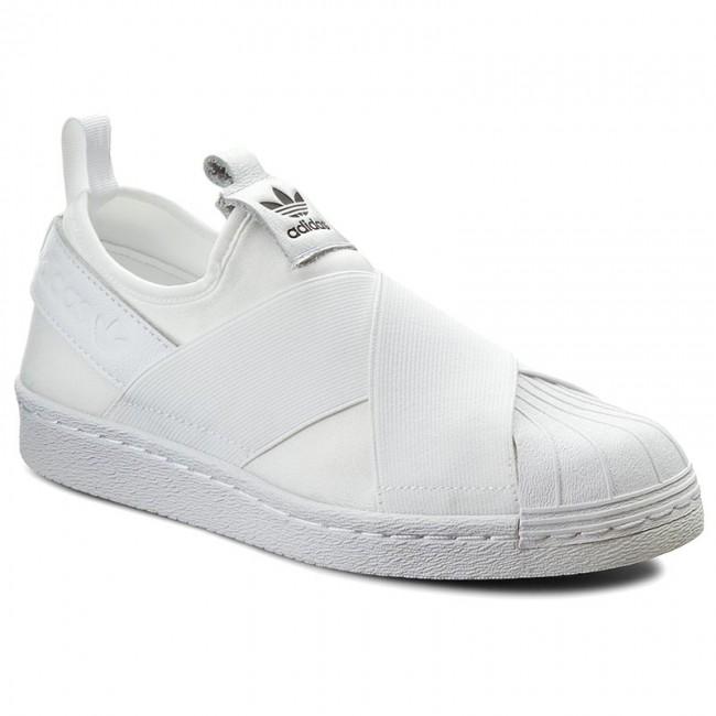 Topánky adidas - Superstar Slip On W S81338 Ftwwht/Ftwwht/Cblack - Ploché -  Poltopánky - Dámske | eobuv.sk